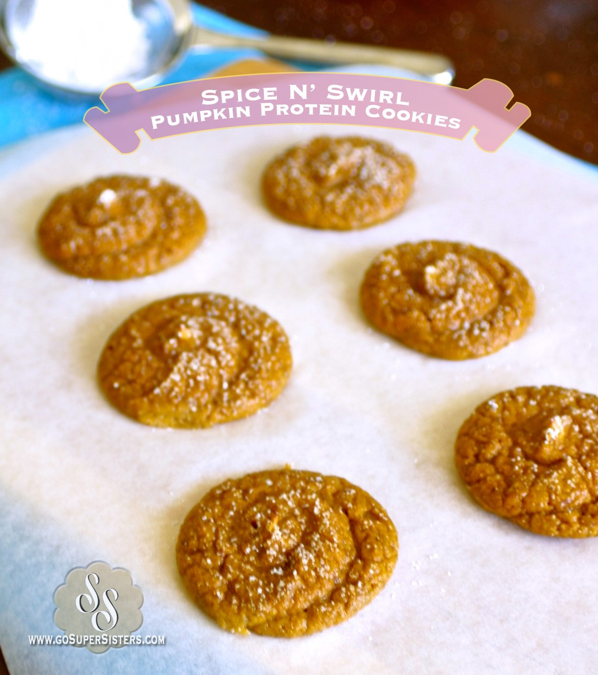 Spice N' Swirl Pumpkin Protein Cookies - Super Sister Fitness