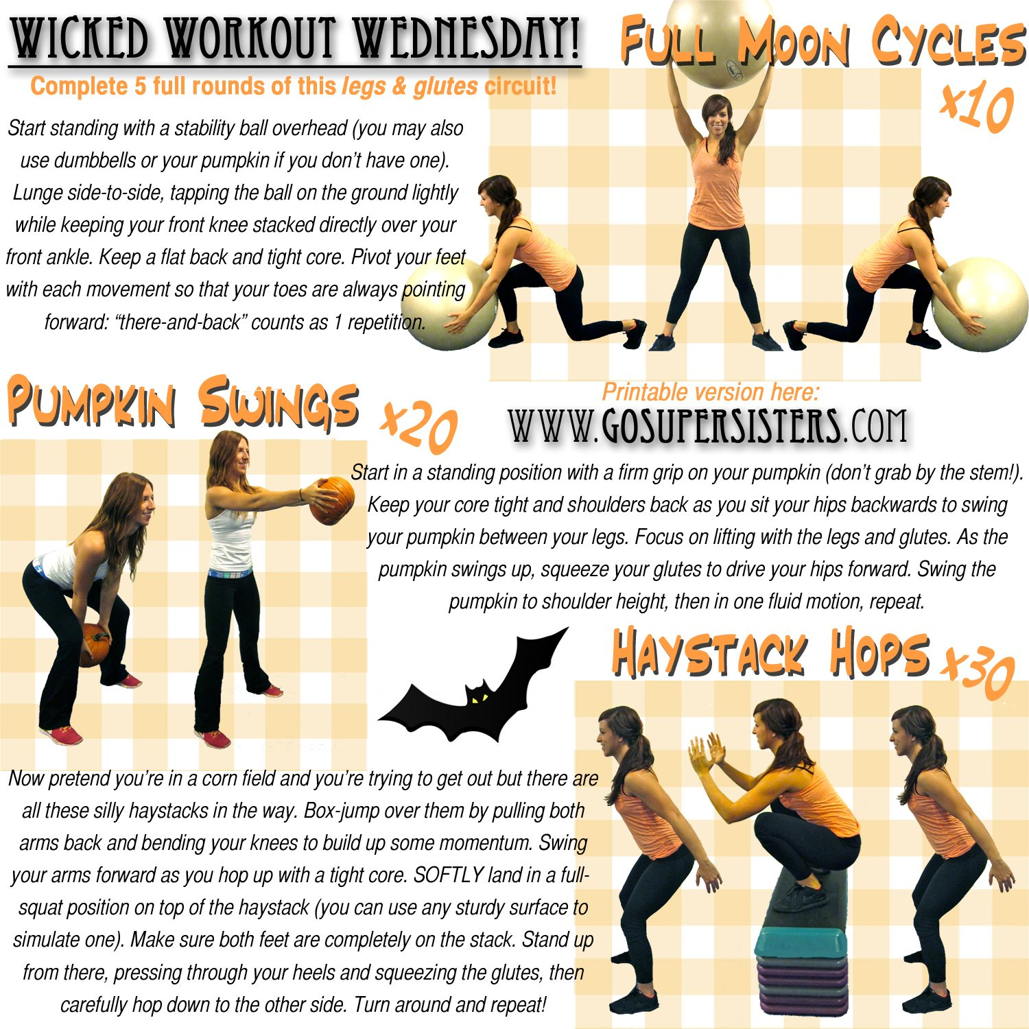 The Last Halloween Workout: Legs & Glutes - Super Sister ...
