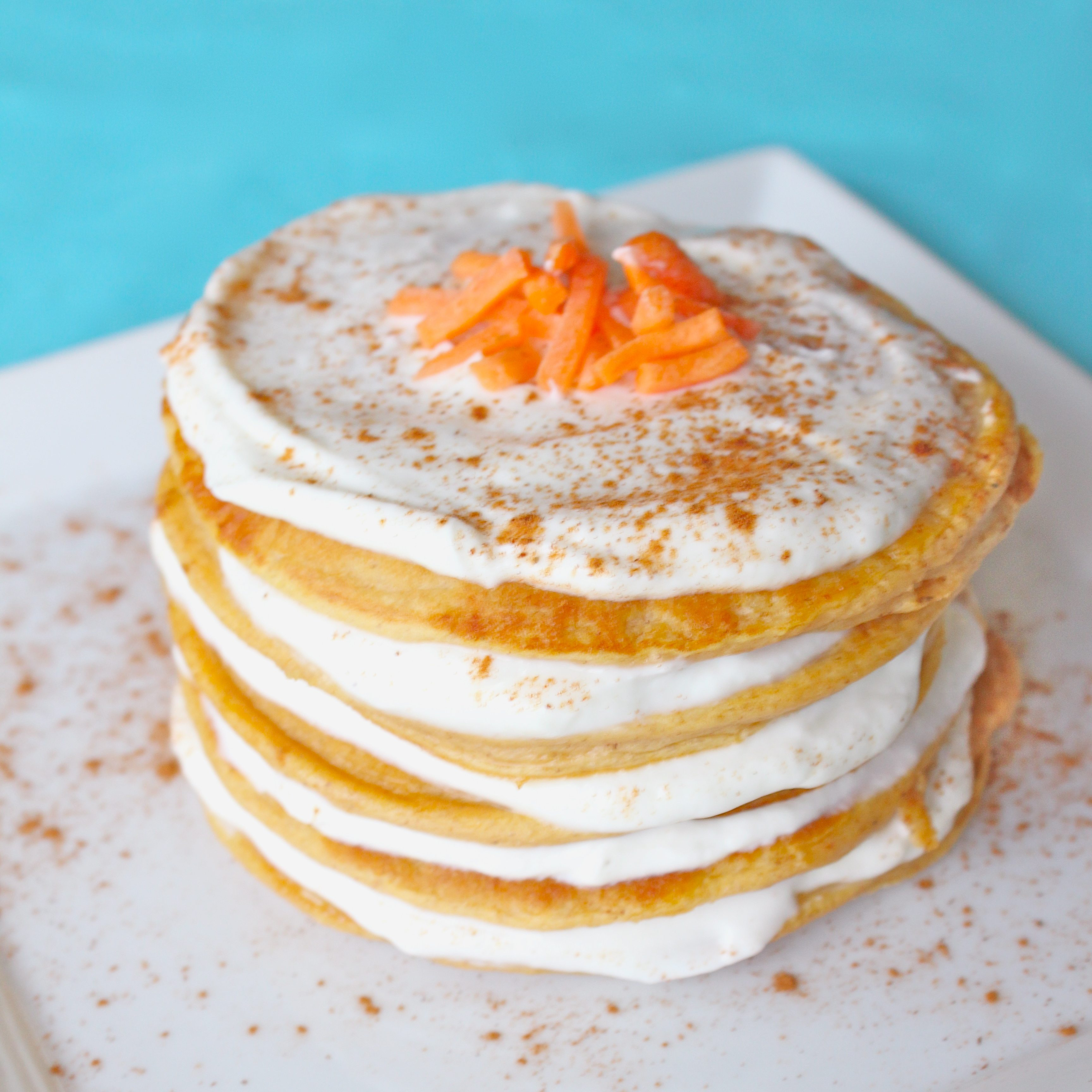 Carrot Cake Protein Pancakes - Super Sister Fitness