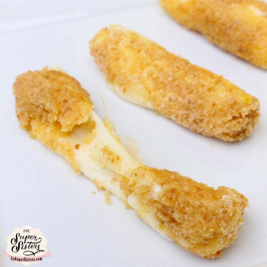 Baked Mozzarella Sticks - Super Sister Fitness