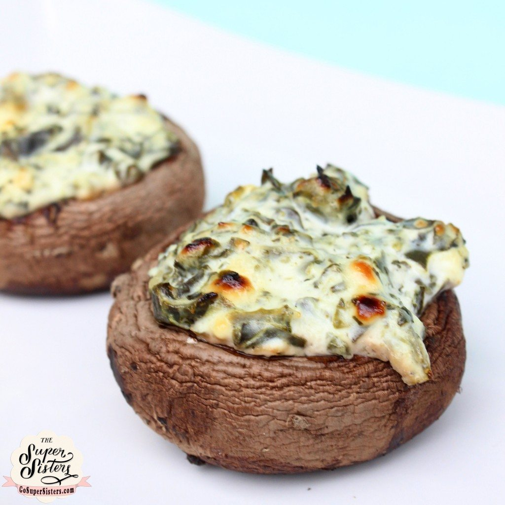 Spinach and Goat Cheese Stuffed Mushrooms - Super Sister Fitness