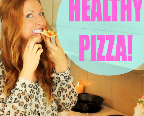Gluten-free, protein-packed and completely guilt-free ~ try this delicious recipe for Chicken Pesto Pizza!