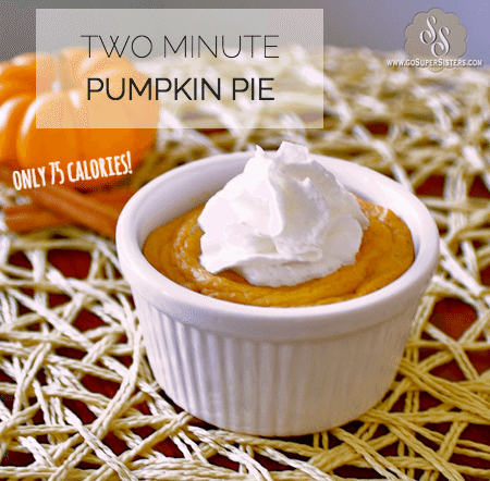2 minute pumpkin pie