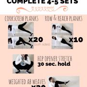 planksgiving workout