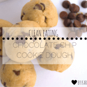 clean chocolate chip cookie dough