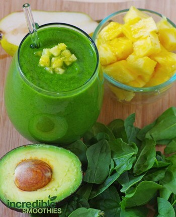 Pineapple-Avocado-Green-Smoothie-Recipe