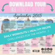 FREE FITNESS CALENDAR opt in