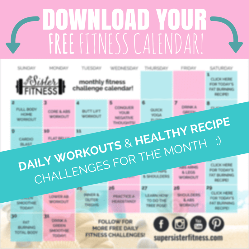 Download Your Free Fitness Calendar
