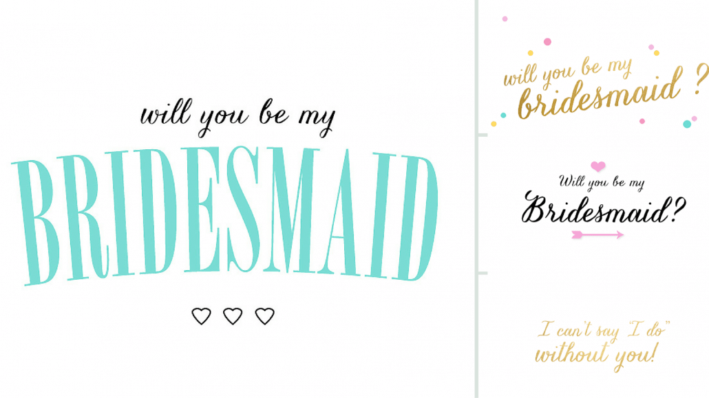 printable Bridesmaid cards