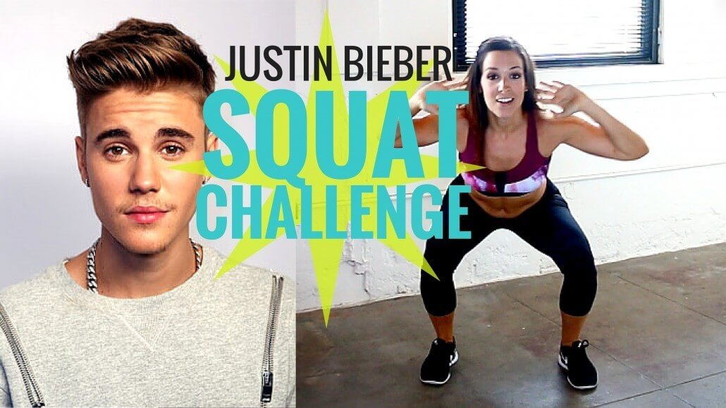 justin bieber what do you mean squat challenge