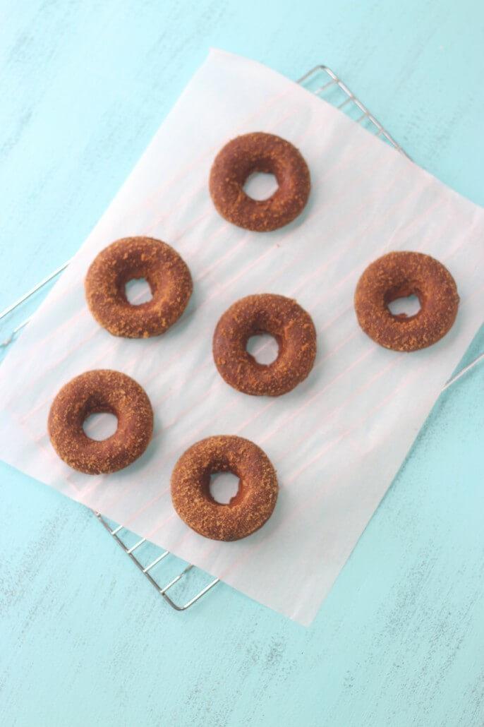 pumpkin donuts baked