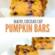 healthy chocolate chip pumpkin bars