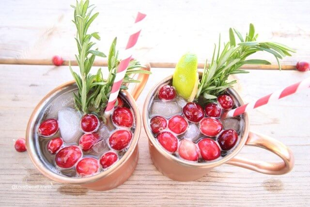 Skinny Cranberry Mules Recipe | LoveSweatFitness