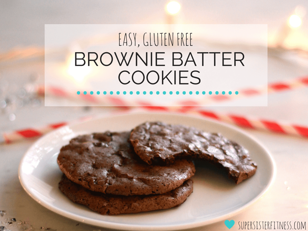 brownie batter cookies, flourless chocolate cookies, healthy holiday recipes,