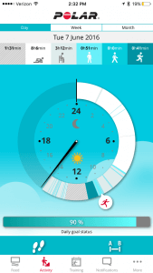 Polar Flow app screenshot