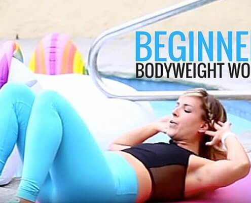Beginner bodyweight workout
