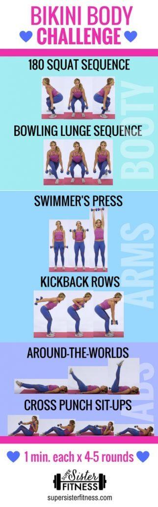 Bikini Body Workout Challenge super sisters printable