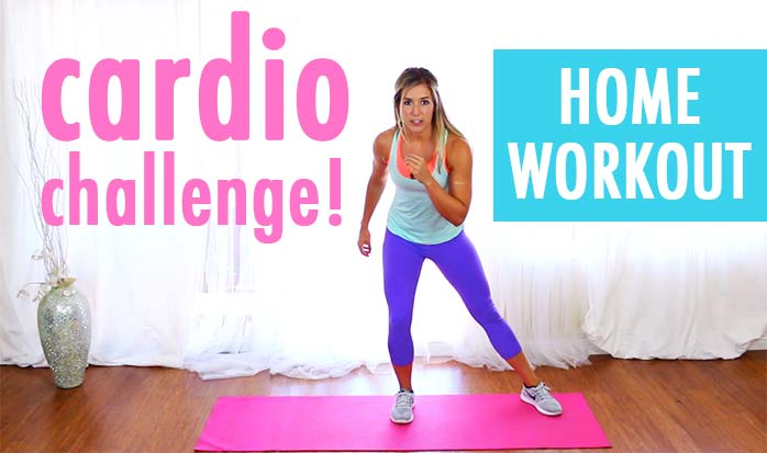 15 minute cardio workout challenge at home no equipment needed