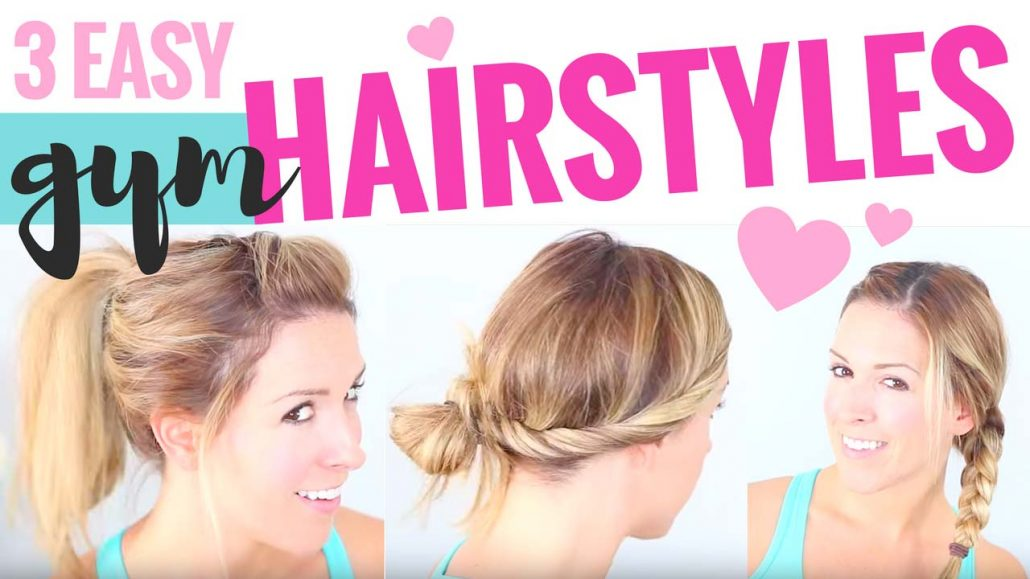 3 Easy Cute Hairstyles for the Gym ♡ Hairstyles 2016! ♡ - Super ...