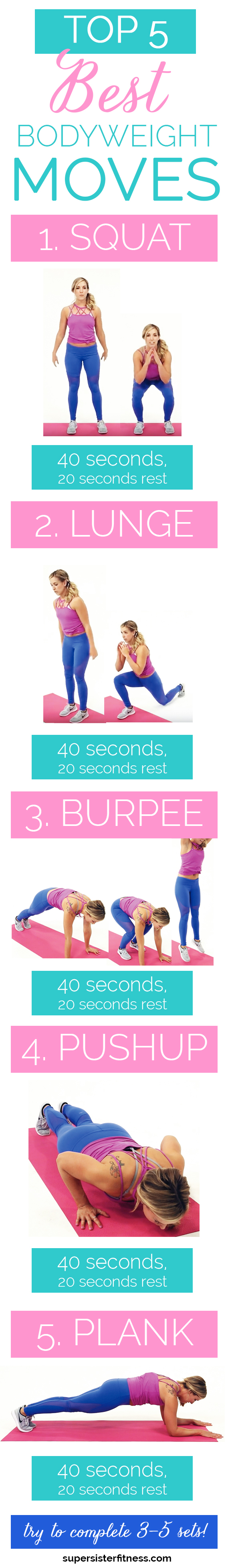 best bodyweight exercises printable workout