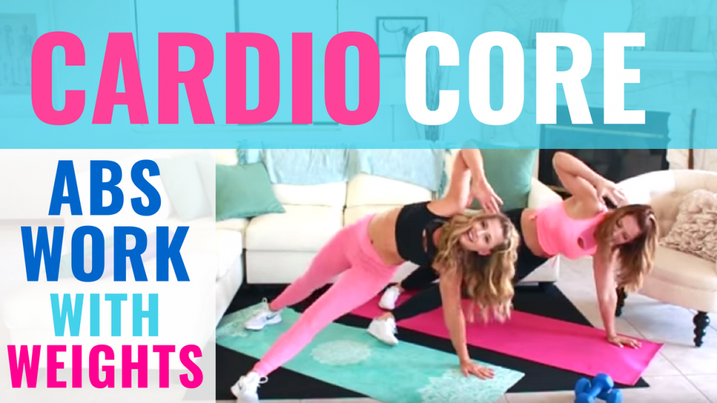 Cardio Core Abs Workout with dumbbells
